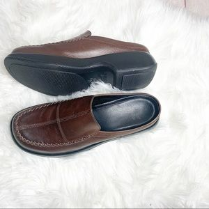 Dansko Brown Leather Slip On Clogs Size 12